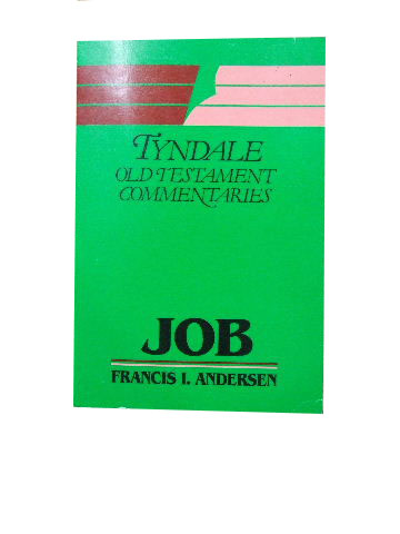 Image for Job - An Introduction and Commentary  (Tyndale Old Testament Commentaries)
