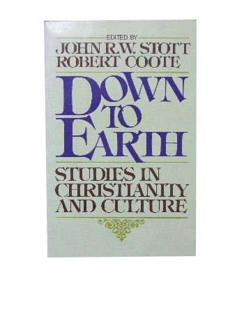 Image for Down to Earth  Studies in Christianity and Culture