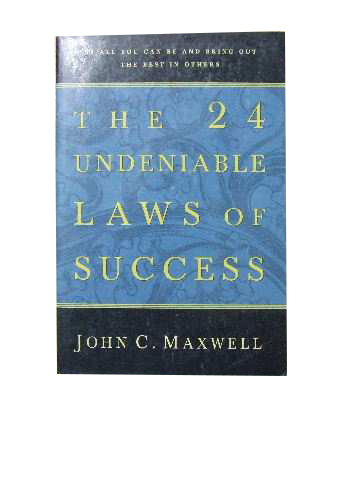 Image for The 24 Undeniable Laws of Success.