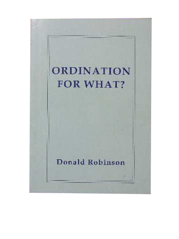 Image for Ordination for What?
