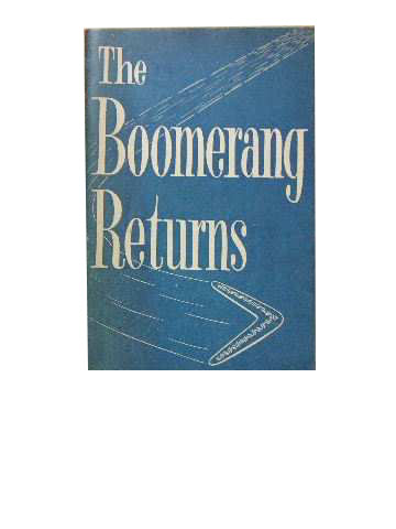 Image for The Boomerang Returns. The Story of the Church Army in Australia.