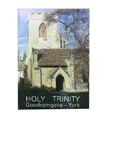 Image for Holy Trinity Goodramgate - York.