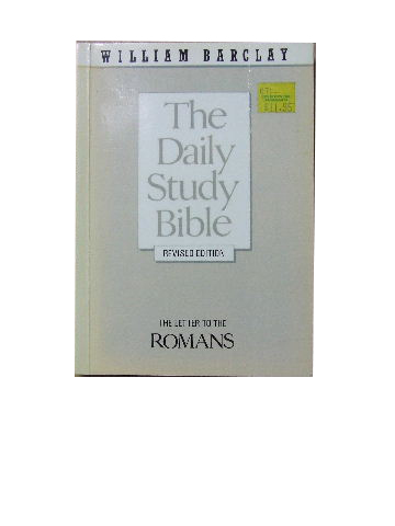 Image for The Letter to the Romans  (The Daily Study Bible)
