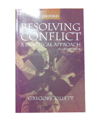Image for Resolving Conflict - a Practical Approach.