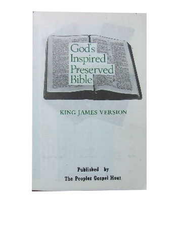 Image for God's Inspired Preserved Bible.