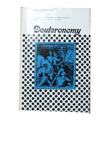Image for Deuteronomy  An Introduction and Commentary