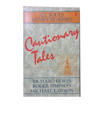 Image for Cautionary Tales  (All Souls Ministry Series)