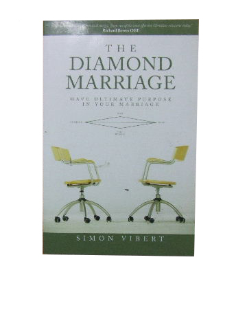Image for The Diamond Marriage  Have ultimate purpose in your marriage