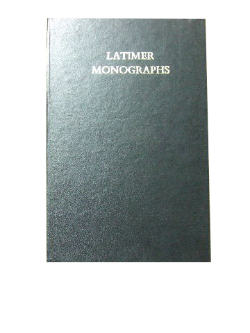 Image for Services of Baptism and Confirmation  (Latimer Monographs II)