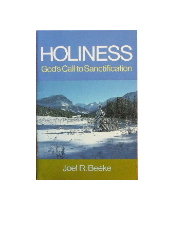 Image for Holiness  God's Call to Sanctification