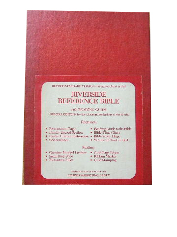 Image for Riverside Reference Bible.