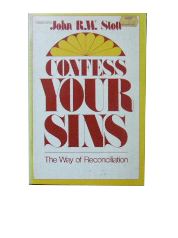Image for Confess Your Sins  The Way of Reconciliation