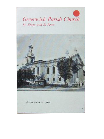 Image for Greenwich Parish Church St Alfege with St Peter  A brief history and guide