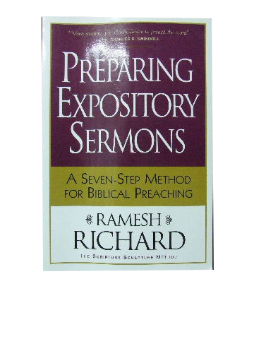 Image for Preparing Expository Sermons  A seven-step method for Biblical preaching