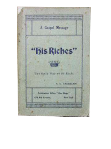 Image for His Riches - Our Riches  A Gospel message