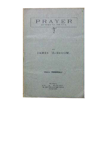 Image for Prayer - an index to the soul.