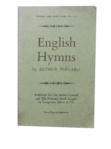 Image for English Hymns  (Bibliographical series of supplements to 'British Book News' on Writers and their Work)