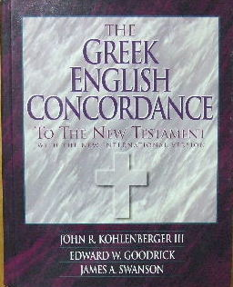 Image for The Greek English Concordance to the New Testament (New International Version).