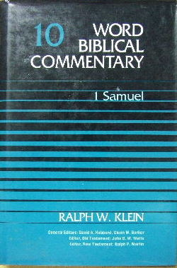 Image for 1 Samuel  Word Biblical Commentary Vol. 10