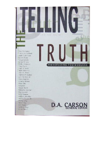 Image for Telling the Truth  Evangelizing Postmoderns