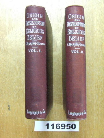 Image for The Origin and Development of Religious Belief - 2 volumes.
