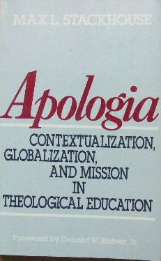 Image for Apologia  Contextualization, globalization, and mission in theological education