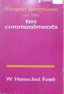 Image for Simple Sermons on the Ten Commandments.