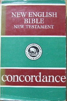 Image for New English Bible New Testament Concordance.