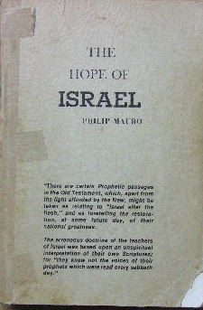 Image for The Hope of Israel. What Is it?