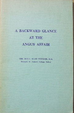 Image for A Backward Glance at the Angus Affair.