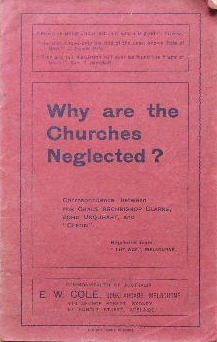 Image for Why are the Churches Neglected?