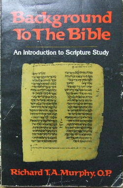 Image for Background to the Bible  An introduction to Scripture study