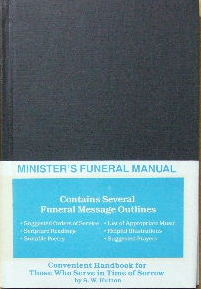 Image for Minister's Funeral Manual.