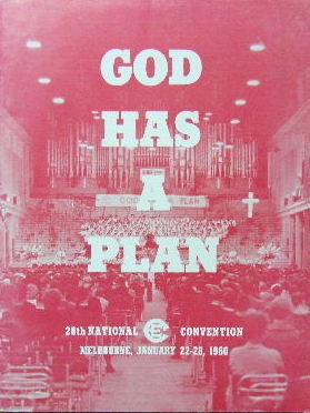 Image for God has a Plan  28th National CE Convention Melbourne 1960