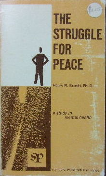 Image for The Struggle for Peace  A study in mental health