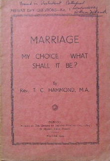 Image for Marriage - my choice: what shall it be?