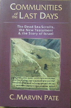 Image for Communities of the Last Days: The Dead Sea Scrolls, the New Testament & the story of Israel.