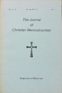 Image for The Journal of Christian Reconstruction , Vol 2 No 2.