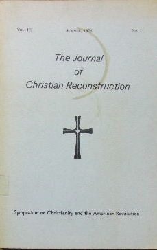 Image for The Journal of Christian Reconstruction , Vol 3 No 1.