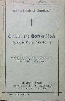 Image for Ordinal and Service book for use in courts of the church.