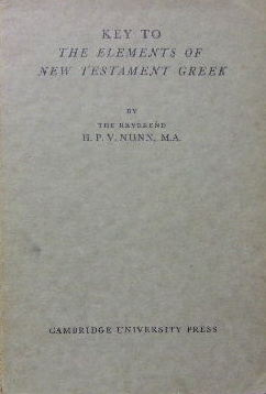Image for Key to the Elements of New Testament Greek.