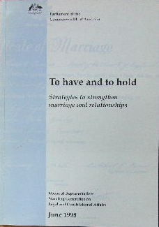 Image for To have and to hold - strategies to strengthen marriage and relationships.