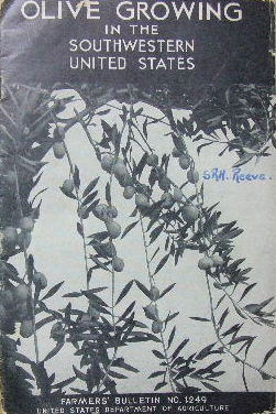 Image for Olive growing in the southwestern United States  Farmer's Bulletin No. 1249