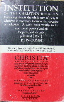 Image for Institution of the Christian Religion  (Translated  & Annotated by Ford Lewis Battles)