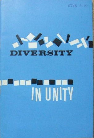 Image for Diversity in Unity - papers read at the 1963 conference.
