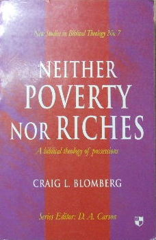 Image for Neither Poverty Nor Riches - a Biblical theology of material possessions.