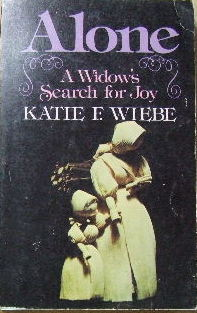 Image for Alone - a widow's search for joy.