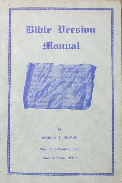 Image for Bible Version manual.