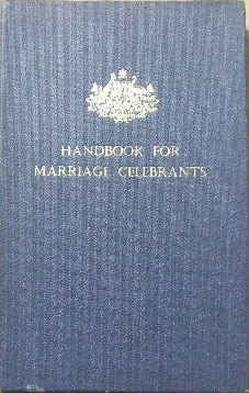 Image for Handbook for Marriage Celebrants.