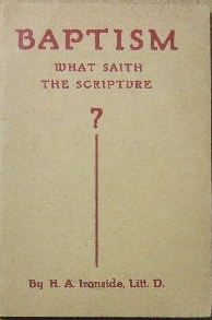 Image for Baptism: What Saith the Scripture?